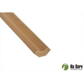 Trälister för bastu   14x31 Hörn/taklist i värmebehandlad asp. Längd: 2,4 m