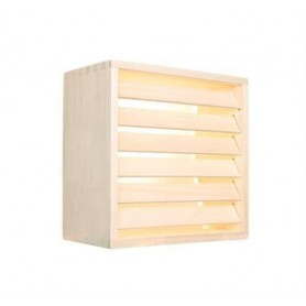 Skärmar   Lampskärm i Furu,6 ribbor väggmodell
