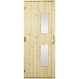 Bastudörrar i trä   Bastudörr 9x21 trä, klarglas   GranKlarglas